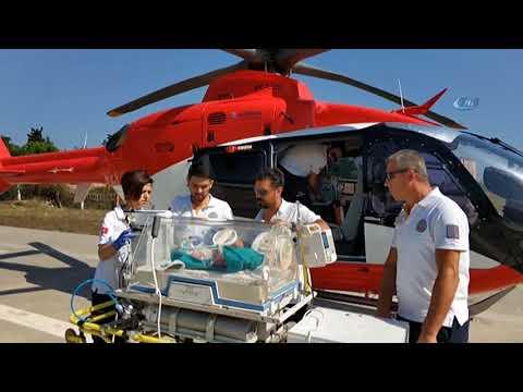 Kalbi Duran Yeni Doğmuş Bebeğin İmdadına Ambulans Helikopter Yetişti