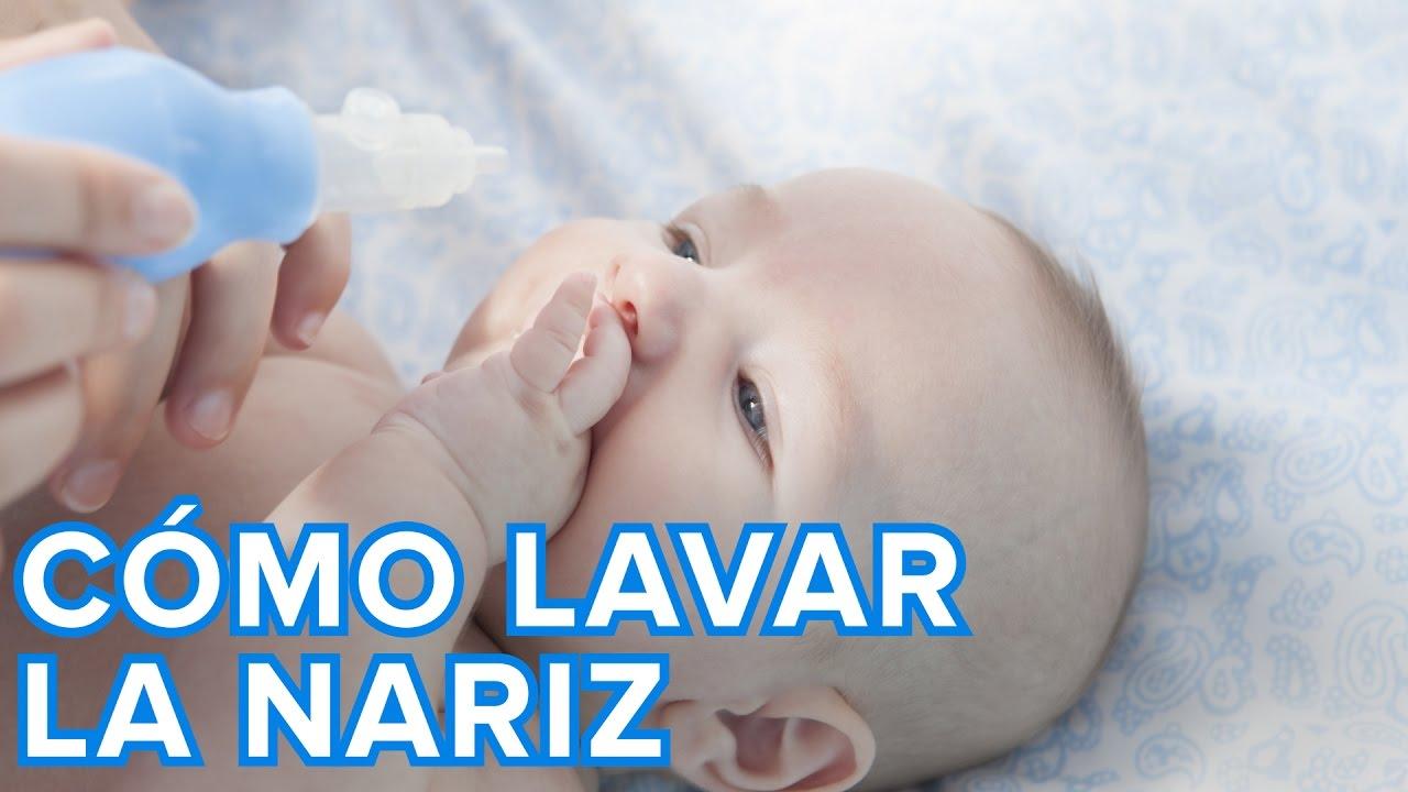 Cómo hacer un lavado nasal al bebé paso a paso