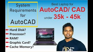 Best Laptop for AutoCAD/CAD Software | System requirements for AutoCAD | CAD Software