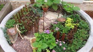 Как сделать мини сад в горшке ? Миниатюрный сад. Необычные Идеи.