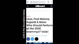 Billboard 2020 voting! (Vote for BTS) .