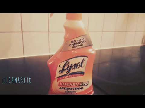 Product Review Lysol Kitchen Degreaser With ** Demo**