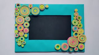 How To Make DIY Photo Frame | Quilling Craft | Craft Nifty Creation
