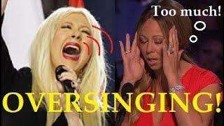 Female Singers OVERSINGING!! (too much!)