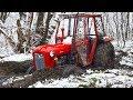 Traktor zaglavio , traktor u blatu , izvlacenje vitlom IMT 539 Tractor stuck in mud