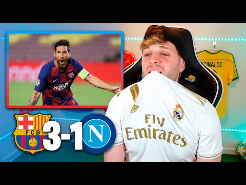 MADRIDISTA REACCIONA al FC BARCELONA 3-1 NÁPOLES Vuelta OCTAVOS Champions League 2020