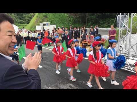 いわき市道 南作・青井線 開通式 豊間小学校鼓笛隊のマーチング