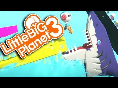 EPIC SHARK SURVIVAL! | Little Big Planet 3 Multiplayer (9
