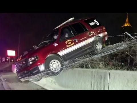 Drunk: Detroit fire chief arrested after crashing department vehicle