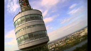 FPV Air Rage, Funny Crash Danube Tower Vienna, FPV RC Plane Accident Failed Close Fast Low Pass City