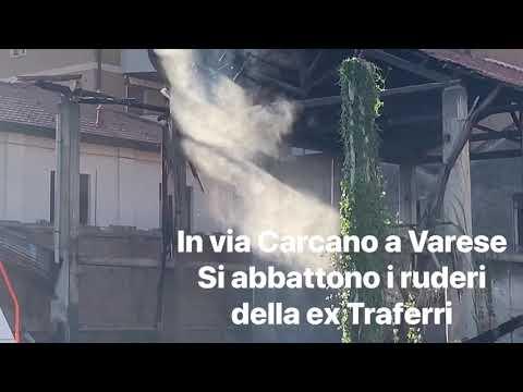 L'abbattimento della ex Traferri a Varese