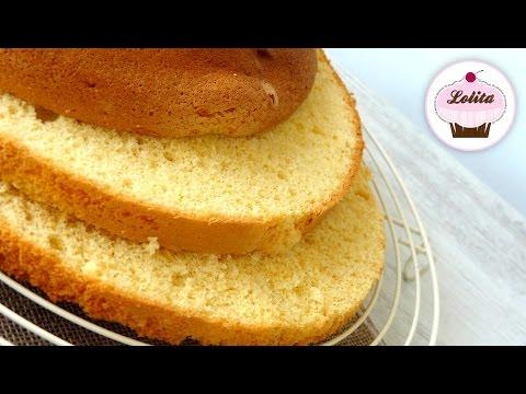 Receta de bizcocho Genovés | Bizcocho para tartas | Bizcocho base