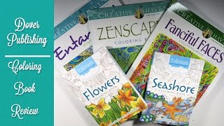 Coloring Book Review: Dover Publishing: Fanciful Faces, Creative Heaven, Blissful Coloring Books