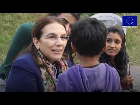 H.E. Androulla Kaminara visited Master Ayub's school in Islamabad