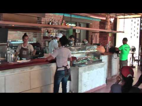 Cafe el Escorial on Plaza Vieja in Havana
