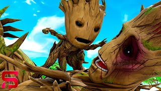 FATHER VS SON - BABY GROOT FIGHTS his DAD.... ( Fortnite Short )
