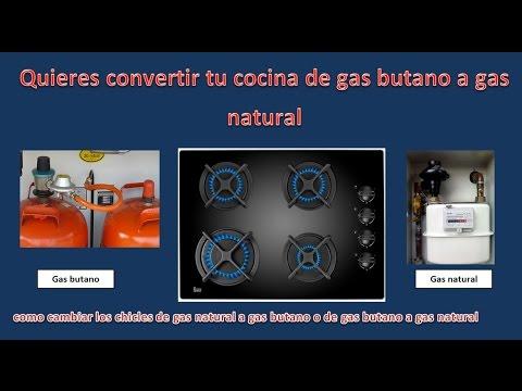 convertir cocina de gas natural a gas butano, cambiar chicles de cocina, cambiar inyector gas