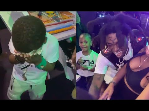Kodak Black Makes His Son Cry After Smashing Cake In His Face At Birthday Party