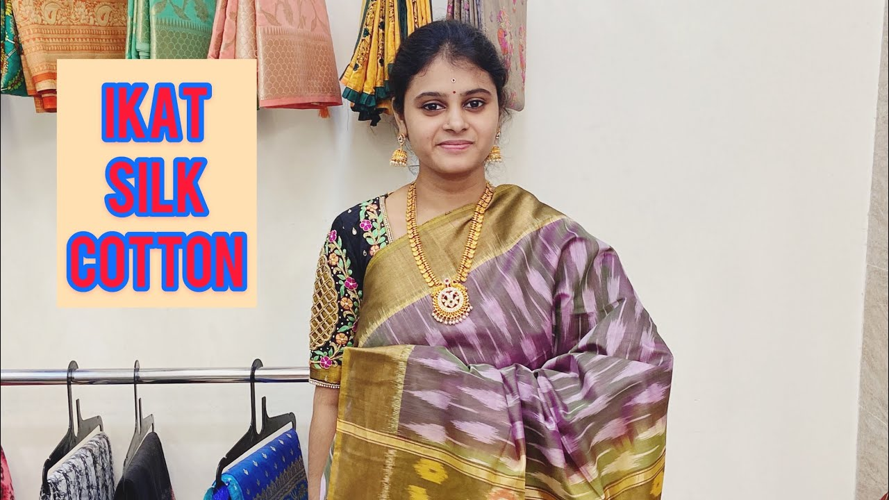 """<p style=""""color: red"""">Video : </p>Ikat Silk Cotton Sarees Available In Haritha Sarees Episode-3When cotton or silk fabrics undergo a decorative dying process  it results in the beautiful ikat sarees. These sarees have extravagant colourful patterns. In the ... 2021-01-08"""