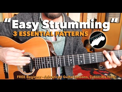 Beginner Guitar Lesson - 3 Easy Strumming Patterns You Must Know