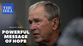 video: Donald Trump attacks George W Bush after former president makes a plea for national unity