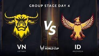 Việt Nam vs INDONESIA - Bảng B - Vòng bảng giải đấu AWC 2019 - Garena Liên Quân Mobile
