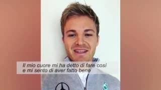 Nico Rosberg si ritira da neo campione del mondo