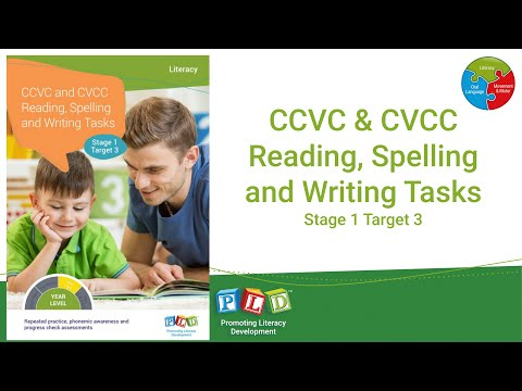CCVC & CVCC Reading, Spelling & Writing Tasks Stage 1 - Target 3