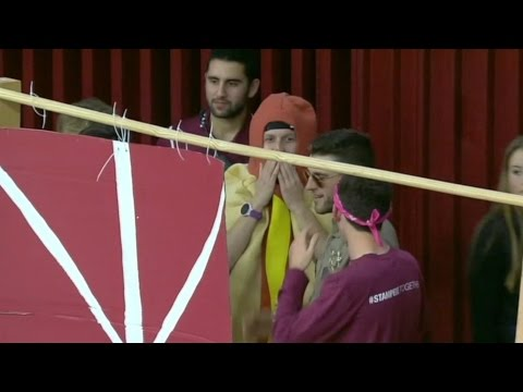 Santa Clara Students Work 'Curtain Of Distraction' To Perfection | CampusInsiders