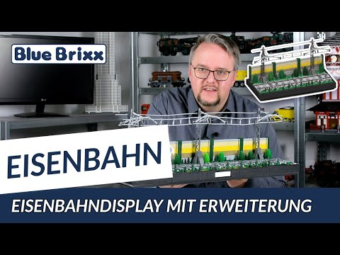 Eisenbahndisplay in 3 Segmenten