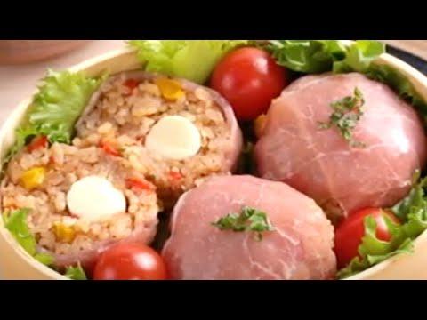 トマトジュースで簡単!「生ハムトマトおにぎり」【OSMICトマト簡単レシピ】