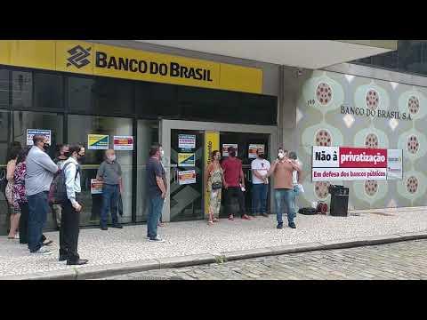 Ato contra a reestruturação no Banco do Brasil - André Elias
