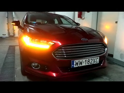 2015/2016 Ford Fusion Mondeo Mk V LED Lights Dynamic Turn Signals Presentation Garage Park Parking