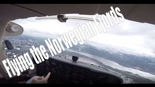 Flying the Norwegian fjords