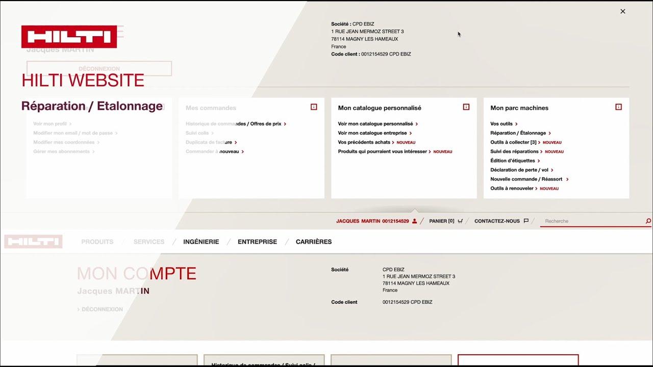 Comment demander une réparation pour l'un de ses outils sur hilti.fr