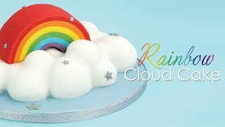 Rainbow In The Clouds 3D Cake Decorating Tutorial