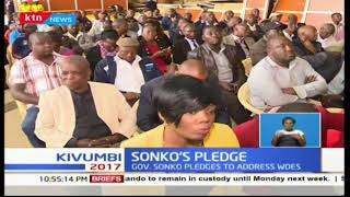 Nairobi governor Mike Sonko meets with transporters and pledges to regulate matatus in the CBD