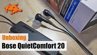 Unboxing Bose QuietComfort 20 [Kopfhörer, In Ear, deutsch]