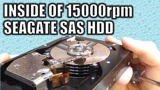 INSIDE OF 15000rpm SAS Drive.  Seagate Cheetah 15k6 450gb model ST3450856SS