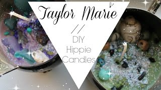DIY hippie candles // Taylor Marie