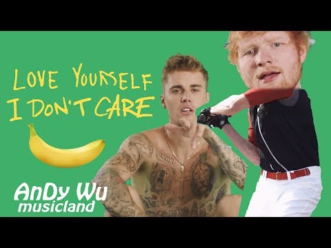 ED SHEERAN, JUSTIN BIEBER - I Don't Care / Love Yourself - AnDyWuMUSICLAND