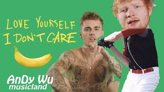 ED SHEERAN, JUSTIN BIEBER   I Don't Care  Love Yourself
