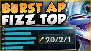 ONE MAN ARMY FIZZ! WHO NEEDS A TEAM WITH THIS FIZZ BUILD? FIZZ TOP GAMEPLAY! - League of Legends