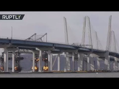 New York's Tappan Zee Bridge BLOWN UP to make way for the new