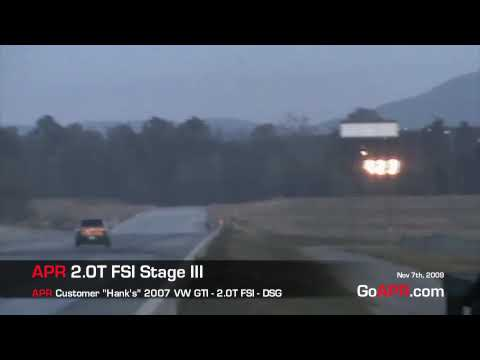 Fastest and Quickest DSG 2.0T FSI Stage III GTI Yet! - APR Tuned!