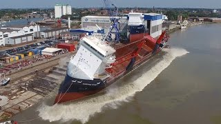 Ship launch NORDANA STAR | Ferus Smit, Leer | Stapellauf / Tewaterlating