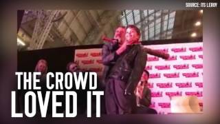 Jeffrey Dean Morgan Teaches Kid How to be Negan at Walker Stalker Con