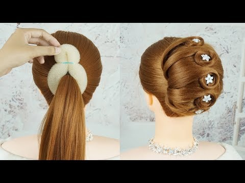 Easy French Roll Hairstyle With Clutcher French Bun