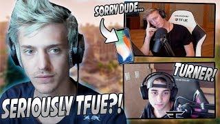 Ninja Reacts To Tfue LEAKING FaZe Cloakz Phone Number Live On Stream