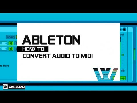 Ableton Live: Convert Audio Files to MIDI Clips | WinkSound